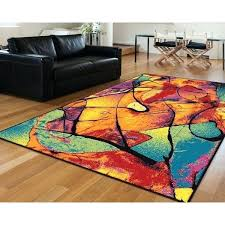 Multi Colored Area Rug Rugs Floral Design Multi Colored Area Rug 52 X 72 Multi