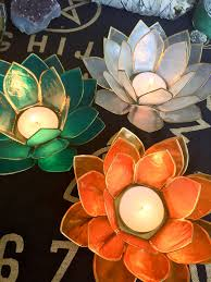 capiz shell lotus candle holder candles and more pinterest