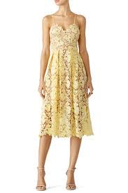 yellow dress yellow lace midi dress by slate willow for 30 35 rent the