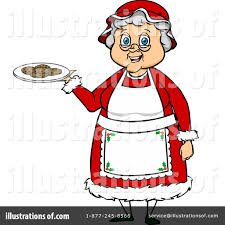 mrs claus clipart 1105137 illustration by cartoon solutions