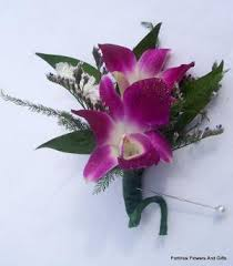 orchid boutonniere fortino s flowers and gifts purple orchid boutonniere