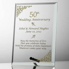 50th anniversary plate engraved 50th wedding anniversary plaques gift ideas bethmaru
