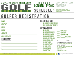 Golf Tournament Sign Up Sheet Template The Foundation 15th Annual Golf Tournament