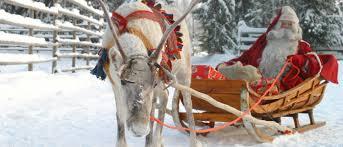 real santa claus and reindeers u2013 happy holidays
