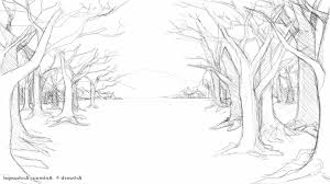 simple forest drawing drawing art gallery