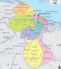 Central America Map And Capitals by Map Of Guyana South America What U0026 Where Central U0026 South