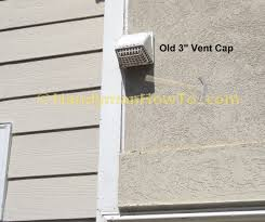 bathroom exhaust fan roof vent cap how to replace a bathroom exhaust fan and ductwork outdoor vent cap