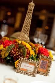 Eiffel Tower Centerpiece Ideas Fall Wedding Reception Eiffel Tower Invites Vintage Wedding Theme