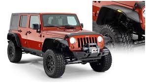 jeep wrangler unlimited flat fenders bushwacker jeep jk unlimited 4 dr flat fender flares 10918 07