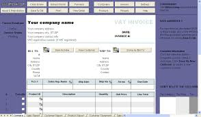 invoice template with two vat tax rates uniform invoice software