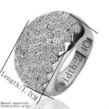 betrothal ring wholesale fashion rhodium jewelry simply slippy white zircon