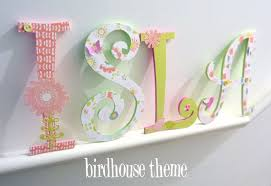 Decorating Wooden Letters For Nursery Handpainted And Decorated Wooden Letters Nursery Decor Themes