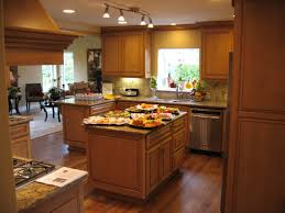 wooden kitchen design with wooden kitchen and pendant lamps also