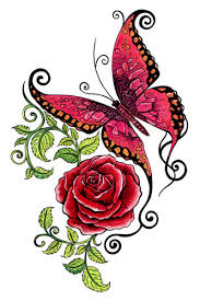 butterfly rose tattooforaweek temporary tattoos largest