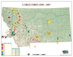 Wildfire Map Montana Legislature Fire Suppression Interim Committee 2007 2008