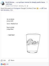 Meme Poem - the best rupi kaur poems from meme groups across america