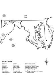 maryland map free maryland map worksheet coloring page free printable coloring pages