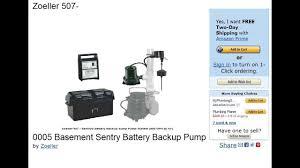 zoeller 507 0005 basement sentry battery backup sump pump review