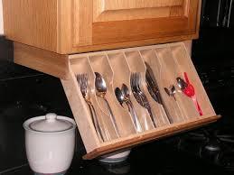 under cabinet storage kitchen under cabinet drawer silverware storage flatware organizer