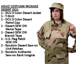 Halloween Army Costumes Womens Basic Military Costume Dcu 3 Color Desert Camouflage