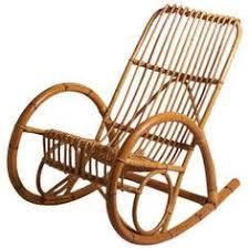 Bamboo Rocking Chair Bamboo Rocking Chair Franco Albini Style By Greatlakesmodern