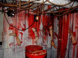 Halloween Decorations Haunted House by Decor Haunted House Decorations The Leg Pieces Are Hung Using