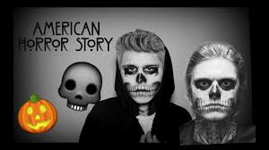 easy ahs tate langdon halloween makeup youtube
