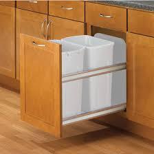 Kitchen Cabinet Waste Bins by Hafele Double Bottom Mount Soft Close Built In Waste Bin 2 X 35