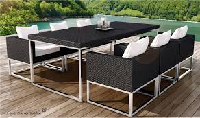 canape jardin resine tressee table et 6 fauteuils encastrable de qualité en résine tressée