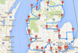 Road Trip Map This Is The Ultimate Michigan Road Trip