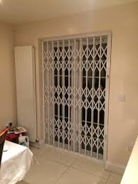 Patio Door Gates Rsg1000 Retractable Patio Door Security Grilles Fitted To A