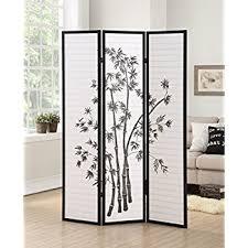 room devider amazon com roundhill furniture 3 panel oriental shoji room