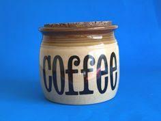 hornsea bronte biscuit barrel canister with teak lid john