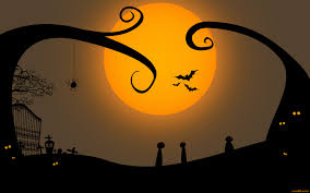 halloween moon background halloween night with dark castle stock vector image 59901706
