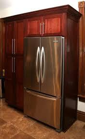 refrigerator kitchen cabinet cherrywood kitchen cabinet pantry with built in refrigerator