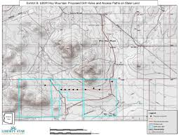 Arizona Map State by Liberty Star Submits Drilling Plan Of Operation To The Arizona