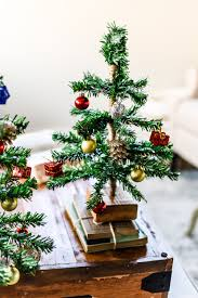 tabletop christmas tree diy mini tabletop christmas tree the weathered fox