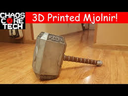 life size thor s hammer mjolnir by chaoscoretech thingiverse