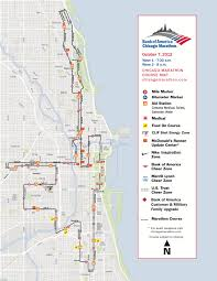 Map Chicago by Jonathan Farrell U2013 Bank Of America Chicago Marathon Course Map