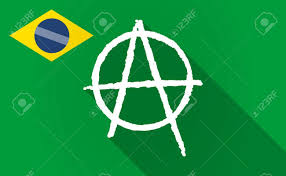 Brazil Flag Image Illustration Of A Long Shadow Brazil Flag With An Anarchy Sign