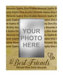engraved wooden gifts personalized best friends engraved wood picture photo frame