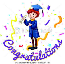 congratulations card congratulations card template with in graduation gown eps