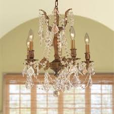 Crystal And Gold Chandelier Wrought Iron And Crystal Gold 4 Light Chandelier Pendant Free