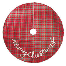 plaid christmas mud pie tartan plaid christmas tree skirt reviews wayfair