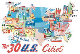 map of us cities united states other maps