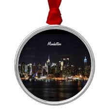 Round Top Metal Christmas Decorations by 36 New York Skyscraper Round Metal Christmas Decorations Zazzle