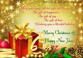 a greeting card messages merry happy new