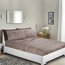 Bed Sheet Set Printed Bed Sheet Set Leopard By Clara Clark 6