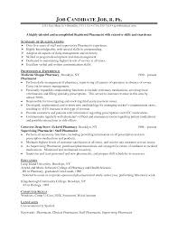 Sample Resume Format Experienced Candidates by Sample Pharmacist Resume Resume For Your Job Application