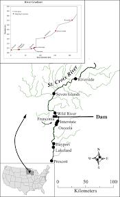 St Croix Map The St Croix River